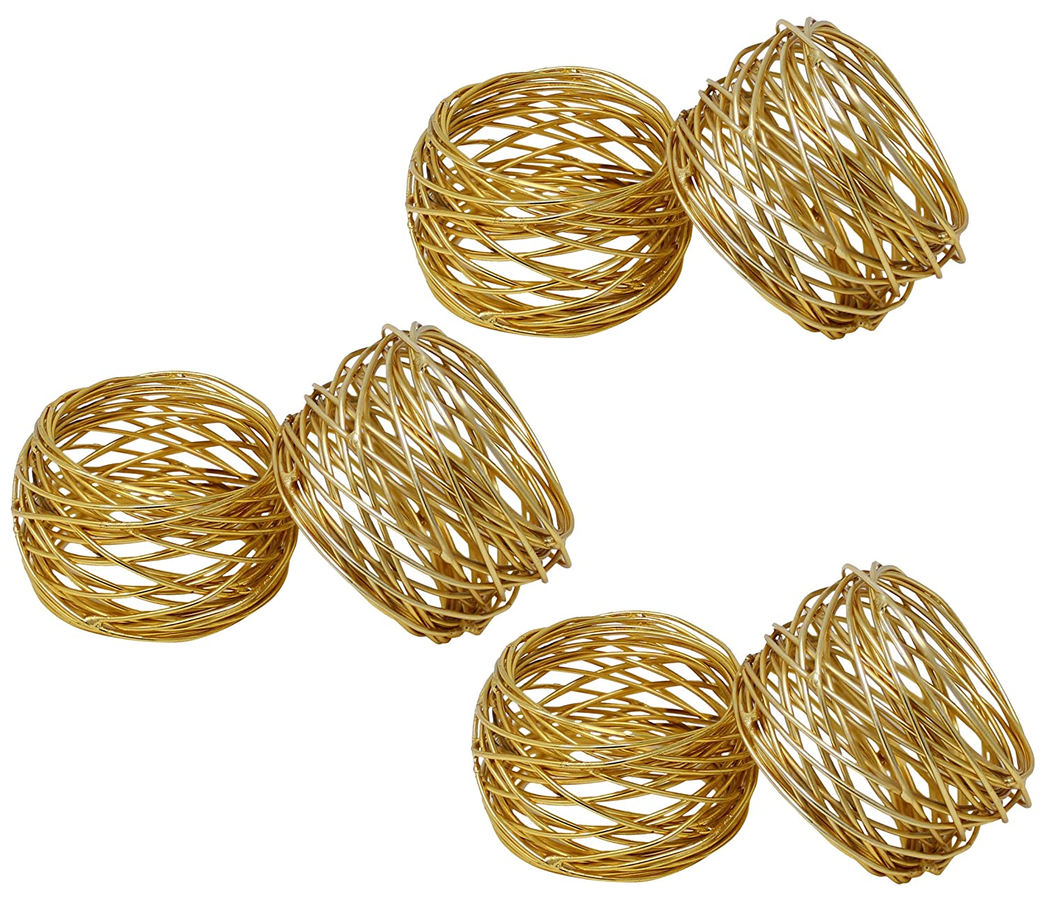 SKAVIJ Round Mesh Gold Napkin Rings Set of 12 Round for Weddings Dinner Parties or Every Day Use M_napkin_ring_001_gold_12_god