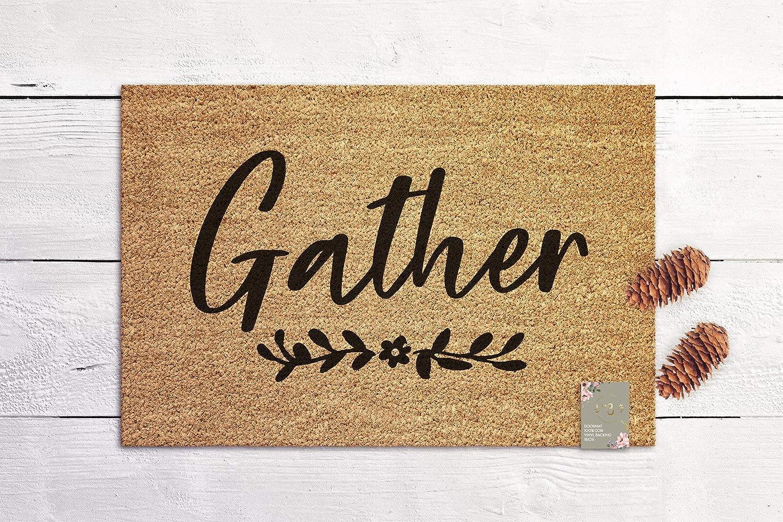 Gather Doormat Housewarming Gift New Home Gift Coconut Fiber Door mat Wedding Gift Coir Mat Outdoor Doormat