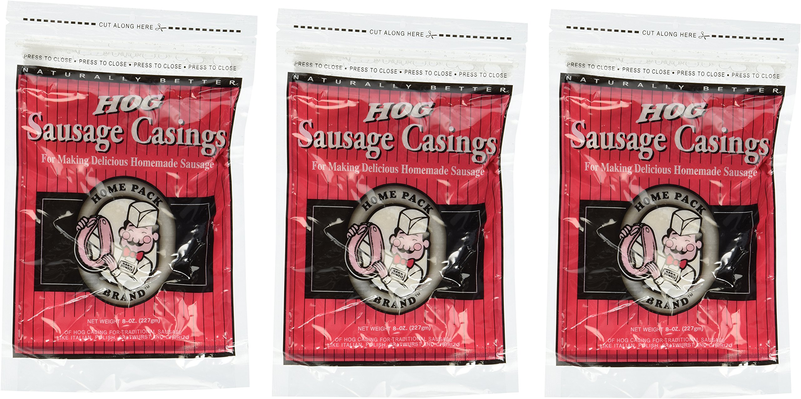 DeWied Natural Hog Casings 8 oz - Home Pack Size - 3 Bags