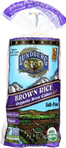 Lundberg Family Farms Organic Brown Rice Cakes, Salt-Free, 8.5 Ounce (Pack of 12)