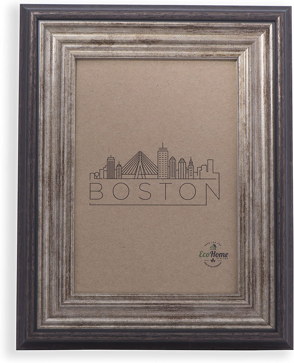 5x7 Picture Frame Antique Brown - Mount/Desktop Display, Frames by EcoHome