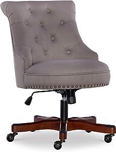 Linon Home Décor Leslie Dolphin Gray Office Chair, Grey