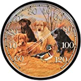 AcuRite 01712 12.5-Inch Wall Thermometer, Labrador Puppies