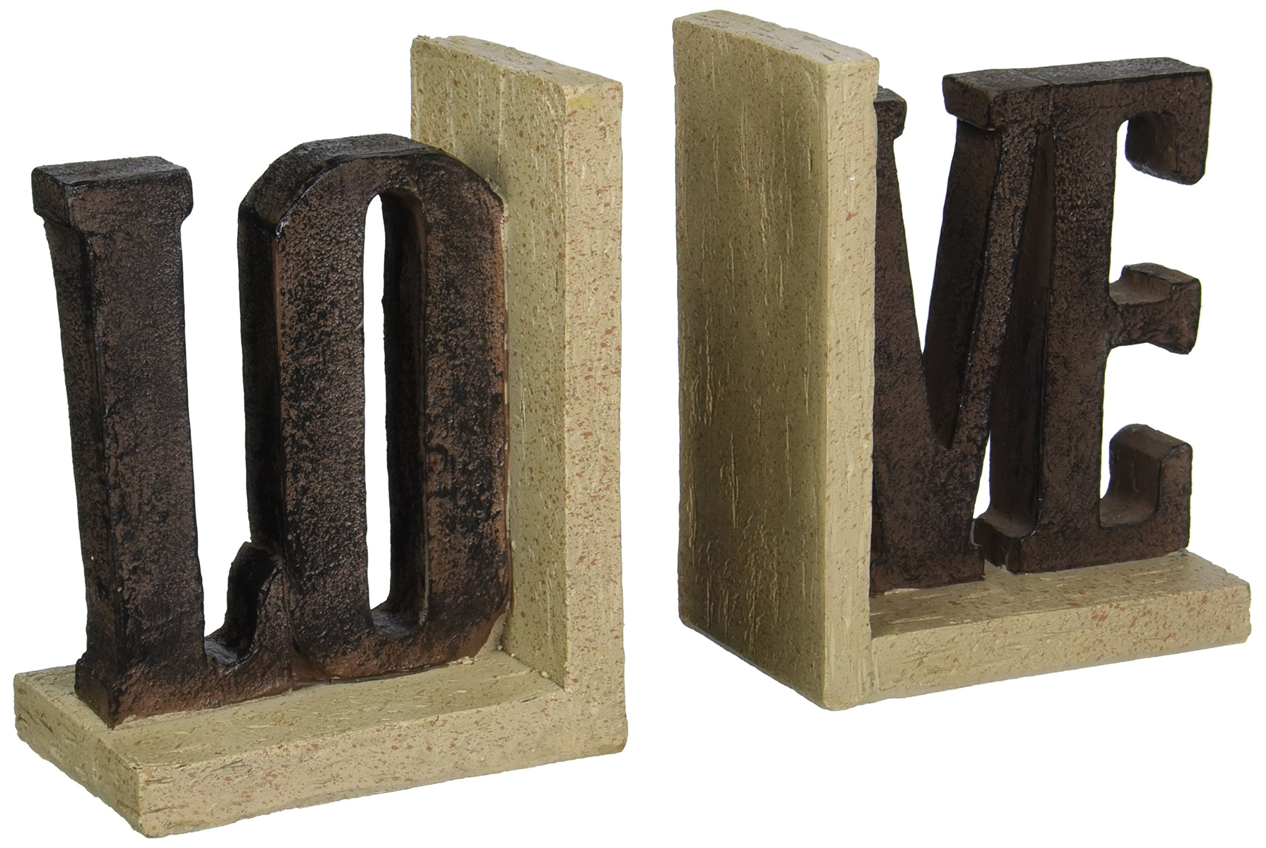 6.75'' H Love Bookends 2 Pc St