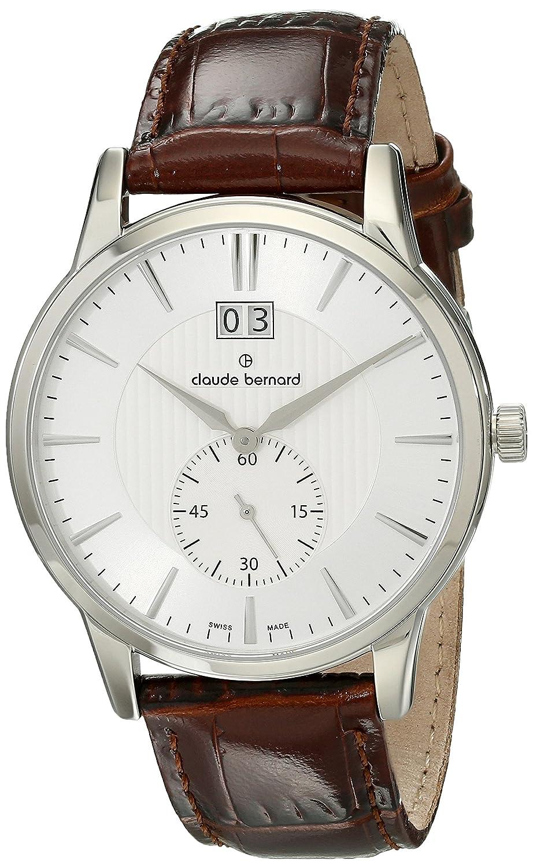 Amazon.com: Claude Bernard Mens 64005 3 AIN Classic Gents Analog Display Swiss Quartz Brown Watch: Watches