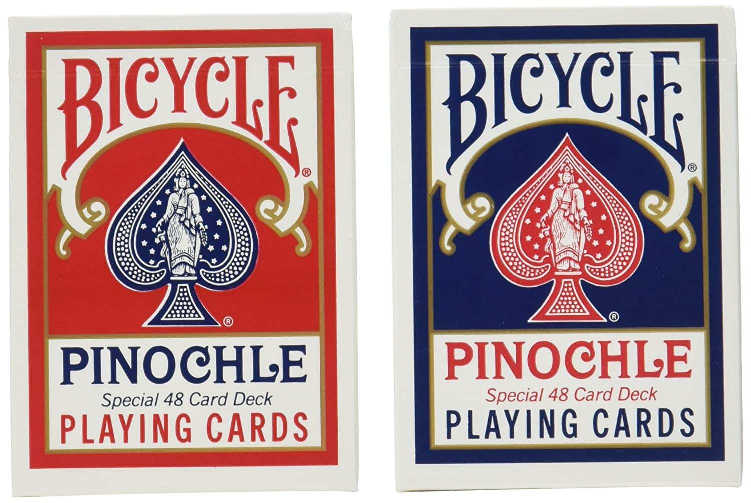 12 Decks Bicycle Pinochle Cards (6 Red / 6 Blue) Brybelly GUSP-010*12