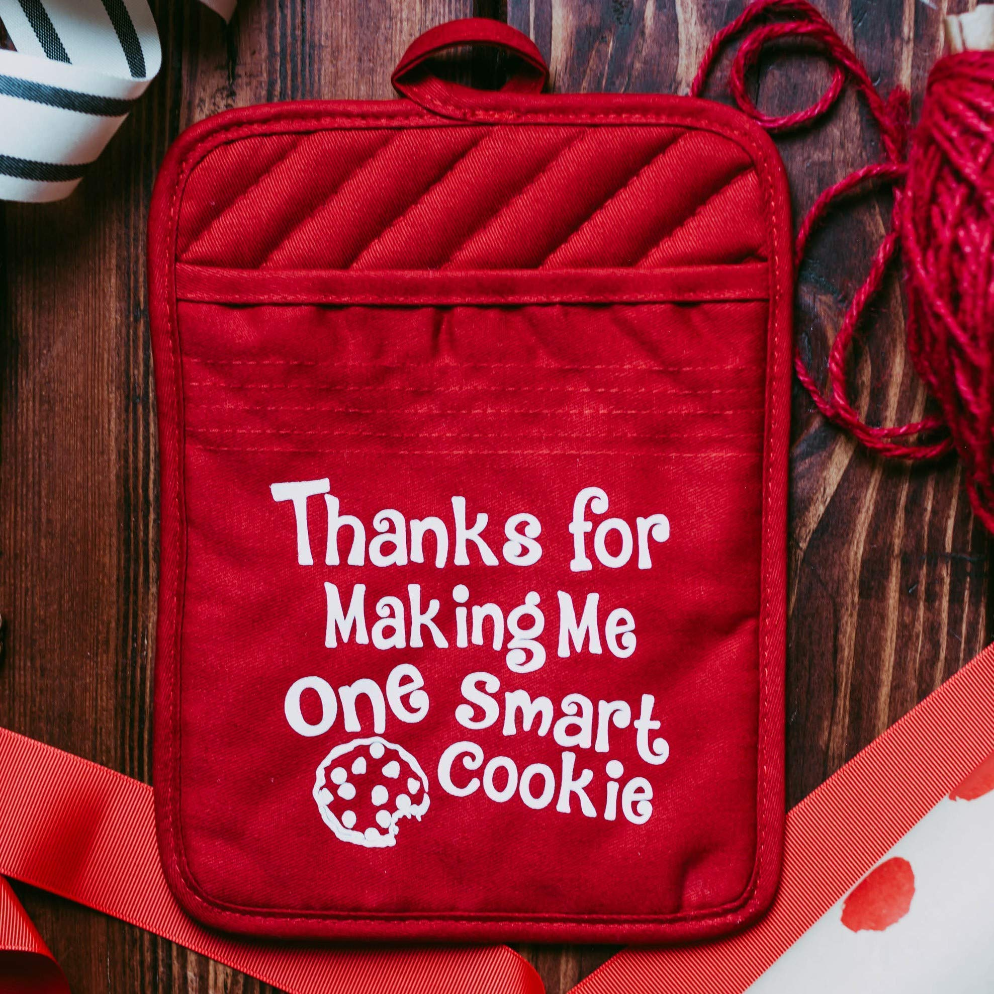 Best Teacher Appreciation Gift for Women Christmas Thank You Present Potholder - Set of 3 by Daisy Lane Company