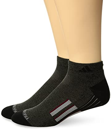 Amazon.com  adidas Men s Climalite X II Low Cut Socks (2-Pack ... 8af223f764