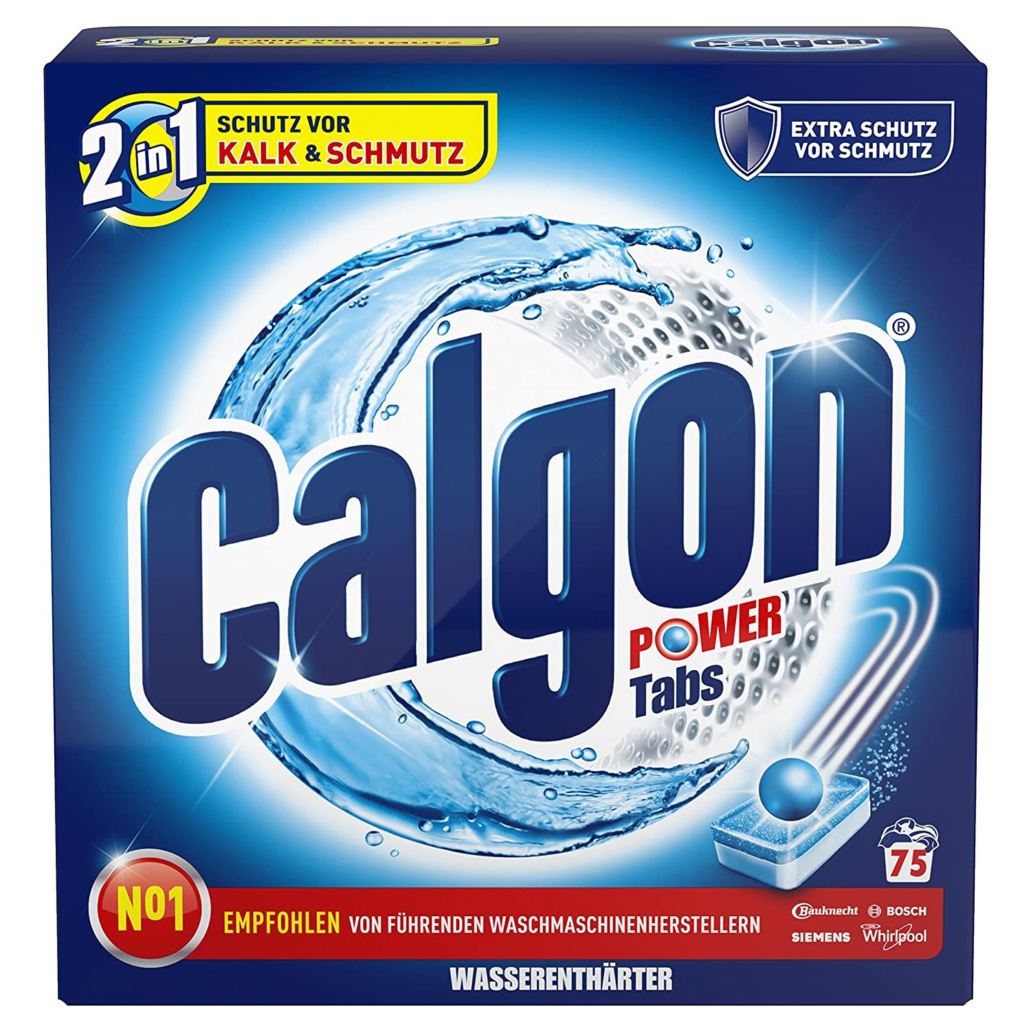 Calgon 2-in-1 Anti-Limescale Protection and Cleaning Tabs 124152