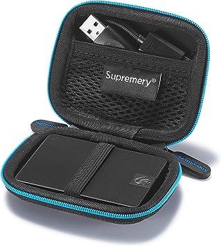 Supremery Bag Estuche para Seagate Expansion SSD 1 TB 500GB SSD externo portátil 6.3 cm 2.5 pulgadas Disco duro USB 3.0: Amazon.es: Electrónica