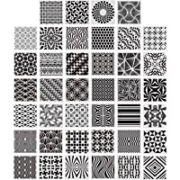 40 Pieces Geometric Stencils Painting Templates for Scrapbooking Cookie Tile Furniture Wall Floor Decor Craft Drawing…