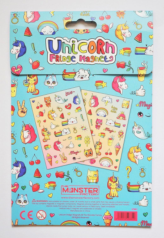 Amazon.com: The Monster Factory Magical Unicorn Fridge Magnets ...