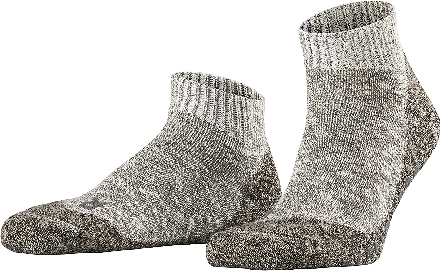 FALKE Mens Lodge Homepad Slipper Sock - 93% Cotton, Grey, US sizes 6.5 to 12, 1 Pair