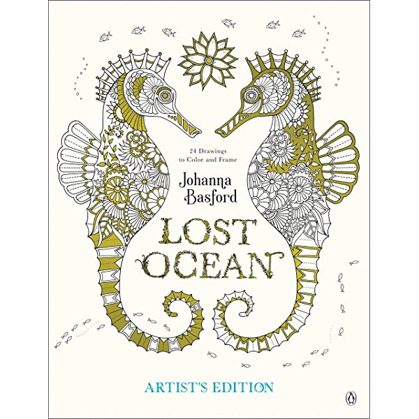 Amazon.com: Lost Ocean Artist's Edition: An Inky Adventure And Coloring Book  For Adults: 24 Drawings To Color And Frame (9780143130758): Basford,  Johanna: Books
