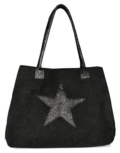 Lae In - Cartera de mano de canvas para mujer, Negro (negro), XL: Amazon.es: Zapatos y complementos