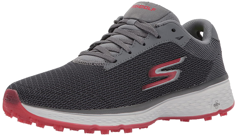 Skechers Golf Men's Go Golf Fairway Golf Shoe B06XT9Q8XB 7.5 D(M) US|Charcoal/Red Mesh