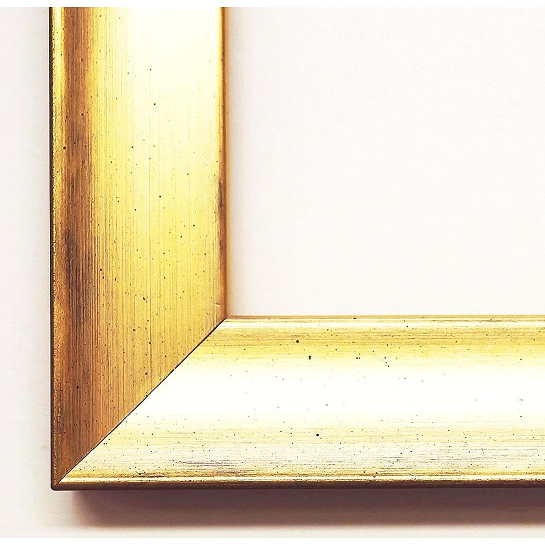Bilderrahmen Heideck 3,0 - Gold - Schwarz - WRU - 50 x 60 cm - Premium Qualität - Modern, Landhaus - Urkundenrahmen, Posterrahmen, Fotorahmen