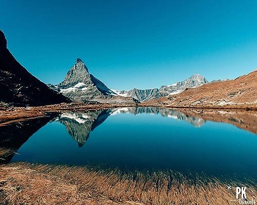 Amazon Com Matterhorn Photograph Framed Photo Zermatt Switzerland Photography Wall Art Print Handmade