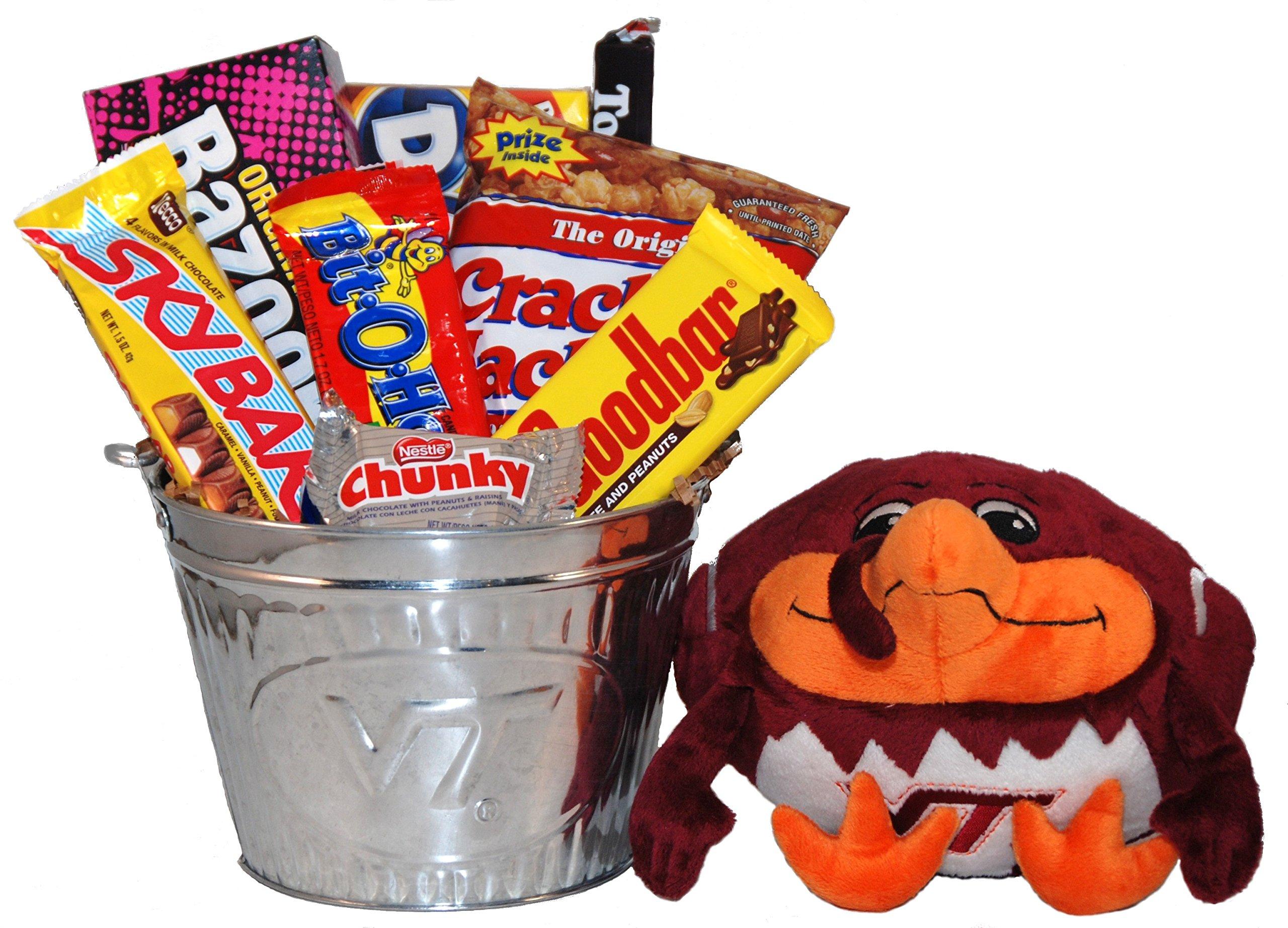 Virginia Tech Snack Bucket Gift Basket - Large