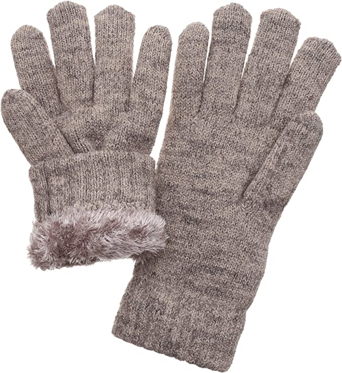 FunDiscount Fleece Lining Thermal Gloves for Cold Weather Accessories Faux Fur Velvet Windproof Mittens Weather Super Warm Cozy Hand Warmers Gauntlet Womens Gloves Winter Black
