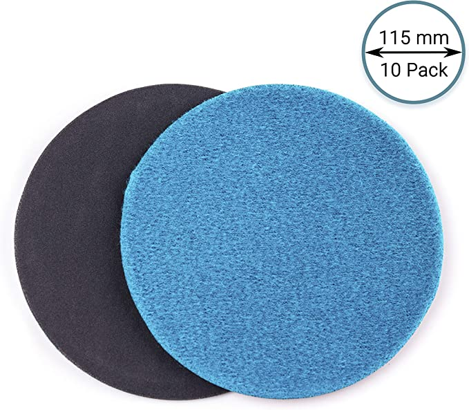 P1000 Abrasive Disc /Ø 115mm GLASS POLISH 13401 GP-PRO20 Silicon Carbide Sanding Disc with Hook and Loop Pack of 50