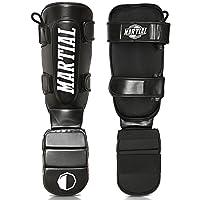 MARTIAL Schienbeinschoner mit perfektem Sitz und idealer Polsterung! Schienbein-Schutz mit geringer Schweißentwicklung für hohen Tragekomfort. Beinschützer für Kampfsport, MMA, Kickboxen + Beutel