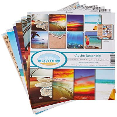 Reminisce ATB-200 at The Beach Scrapbook Collection Kit, Multicolor Palette: Arts, Crafts & Sewing