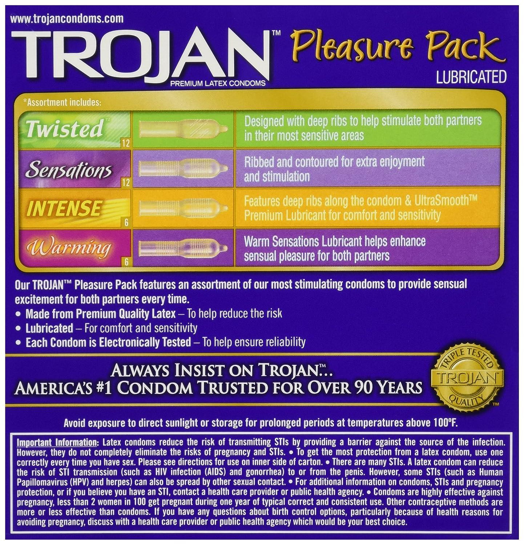 Tojan pleasure pack condoms