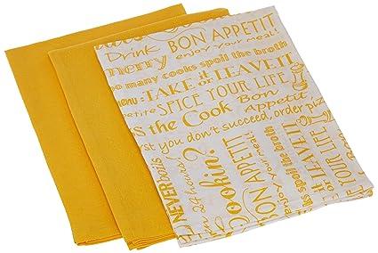 Kay Dee Designs Cook Flour Sacks Towels Set/3 (lemon)