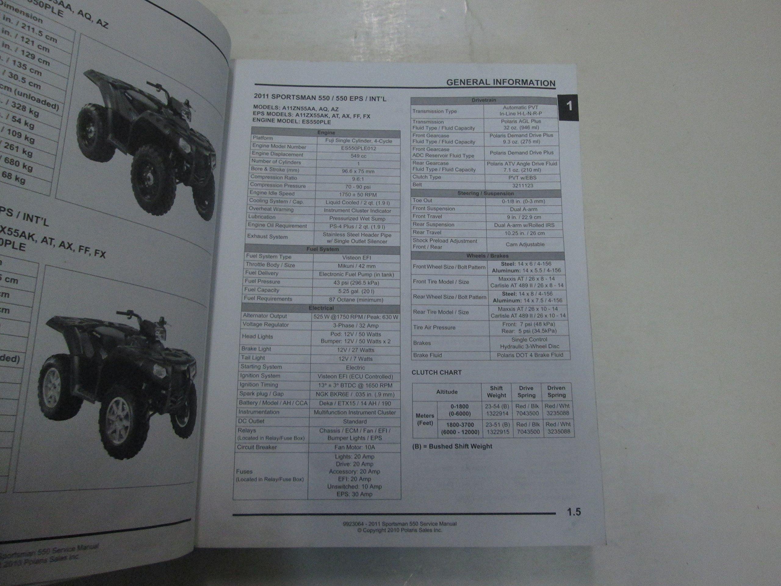 2011 Polaris Sportsman 550 Service Repair Manual WORN WATER DAMAGE FACTORY  OEM: Polaris: Amazon.com: Books