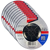 "Makita 10 Pack - 4 1 2 Grinding Wheel For Grinders - Aggressive Grinding For Metal - 4-1/2"" x 1/4 x 7/8-Inch 