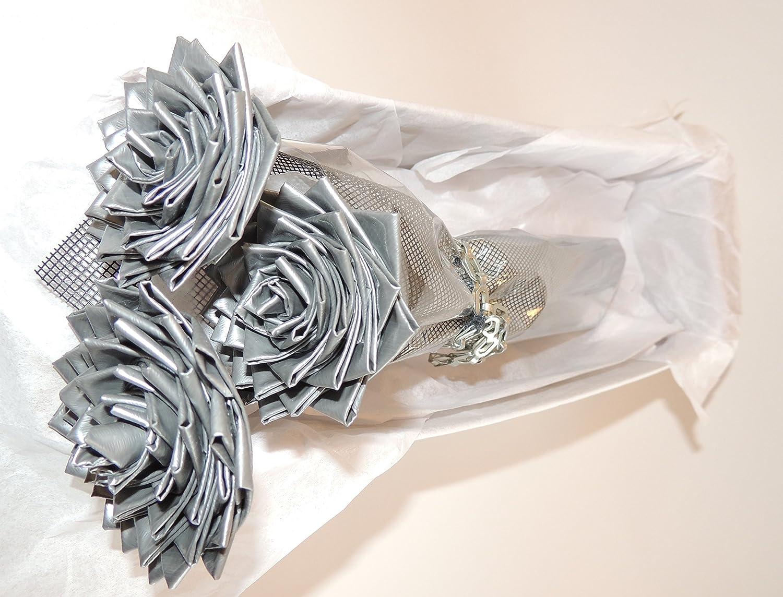 Amazon unique gift premium silver duct tape flowers for him amazon unique gift premium silver duct tape flowers for him roses for him great gift idea for him her home improvement izmirmasajfo