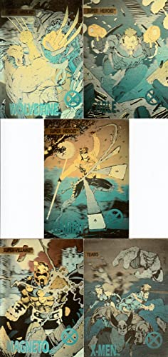 eb4294d4c5c Image Unavailable. Image not available for. Color  X-MEN 1992 IMPEL  COMPLETE HOLOGRAM INSERT CHASE CARD SET ...
