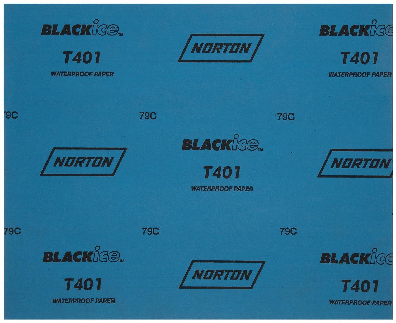 Pack of 50 Paper Backing Norton T401 Black Ice Abrasive Sheet Silicon Carbide Grit 1000 Waterproof