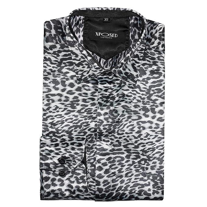 Xposed Disfraz de Leopardo para Hombre, Estilo Retro, Sedoso ...