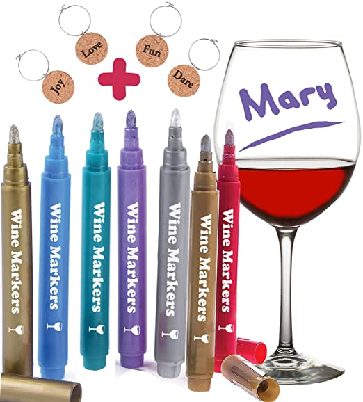 Review Wine Glass Markers, Pack