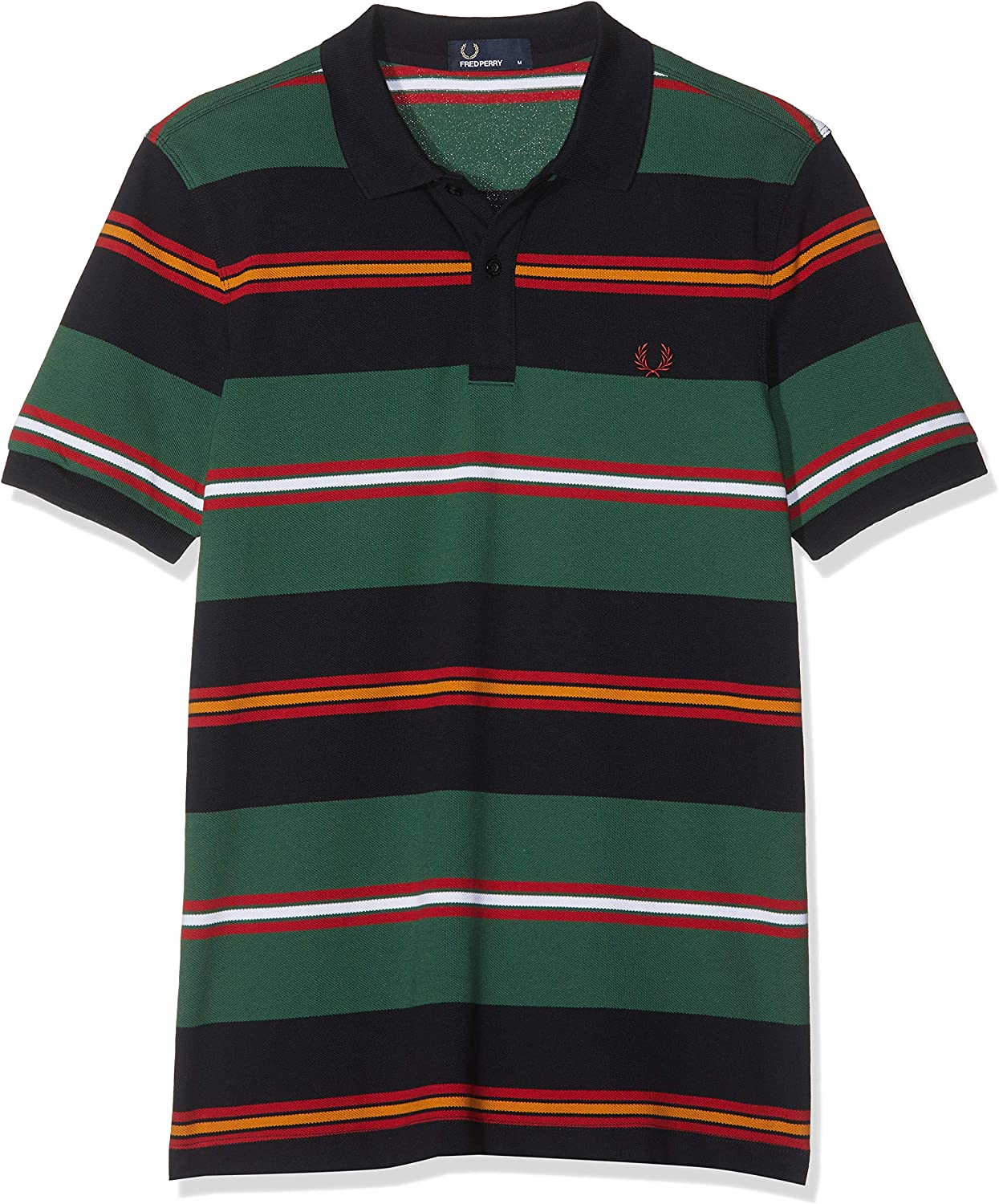 Fred Perry M5507-CONTRAST Stripe Pique SHIRT-608-L Polo, Azul ...