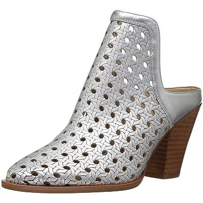 Amazon Brand - The Fix Women's Jaeda Open Weave Mule Shoetie Ankle Bootie,Matte Silver/Metallic,9 B US: Shoes