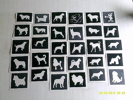 25 x Plantillas huella de perro en forma de corazón para grabado ...