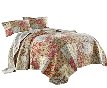 Amazon.com: Chezmoi Collection Leslie - Juego de cama (3 ...