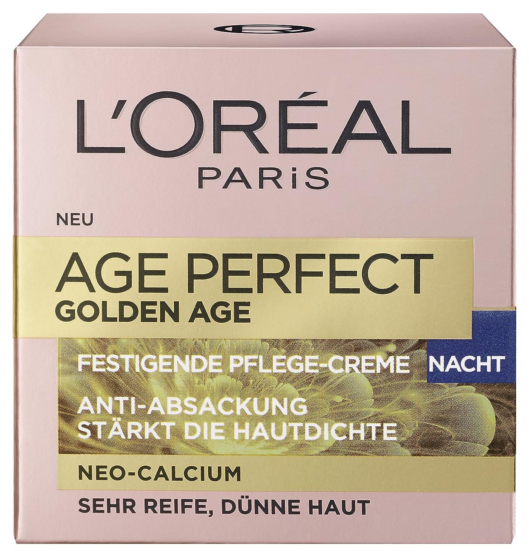 L'Oreal Paris Age Perfect Golden Age Nachtpflege, mit Neo-Calcium und Pfingstrosen-Extrakt, für einen rosig-frischen Teint, 50 ml L' Oréal Paris A8788600
