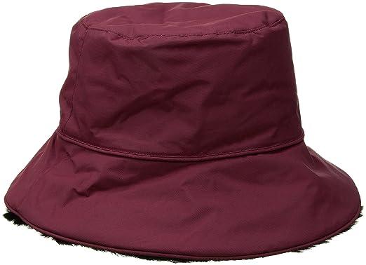 606292291db3e3 Nine West Women's Nylon Reversible Faux Fur Bucket Hat, Oxblood One Size