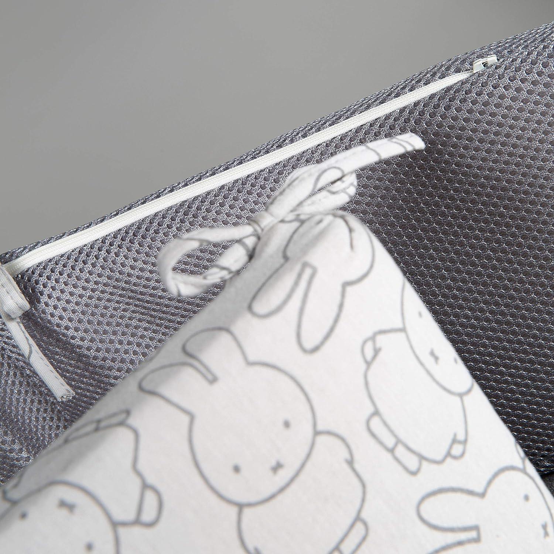 Babynestchen AIR-balance System Bettumrandung Babynest Bettausstattung Kopfschutz, luftzirkulierendes -Nestchen safe asleep von roba Nestchen Air PLUS Jersey grau