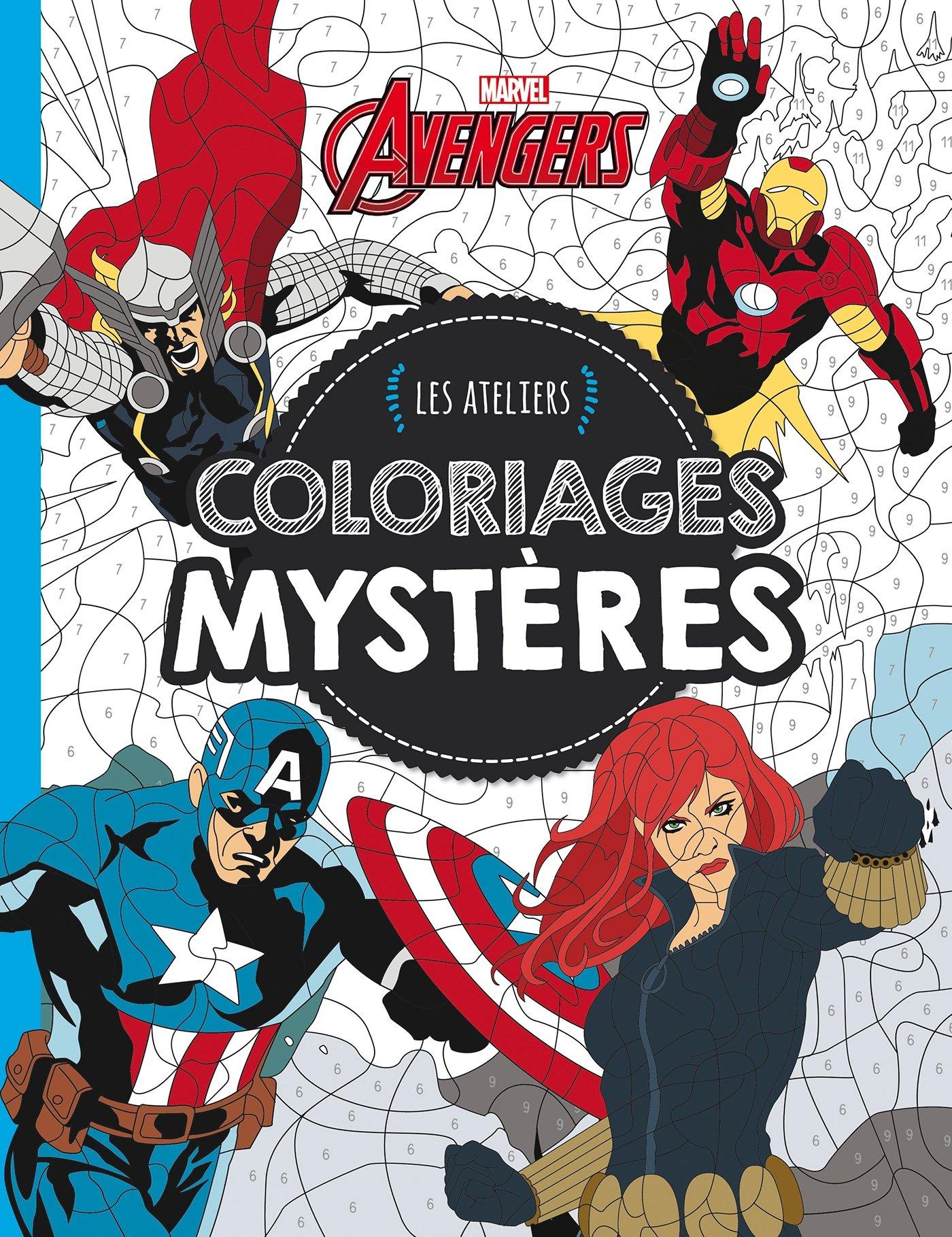 Amazon Fr Avengers Les Ateliers Marvel Coloriages