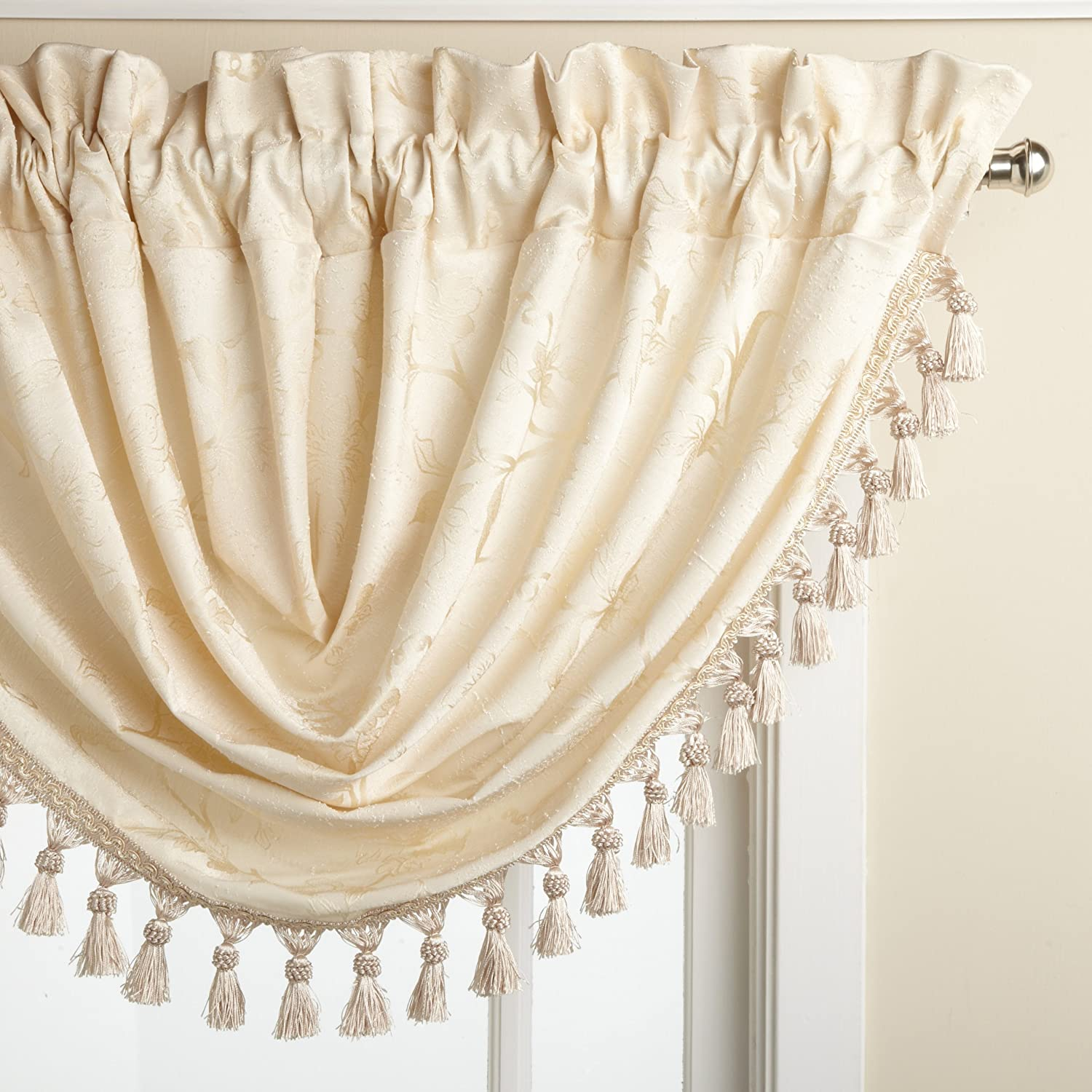 bedding palmer lined with treatments curtain duchess super toile black style floral ease valance ellis window sale ivory discounted