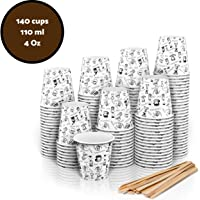 140 Vasos Carton Desechables para Café Espresso 110