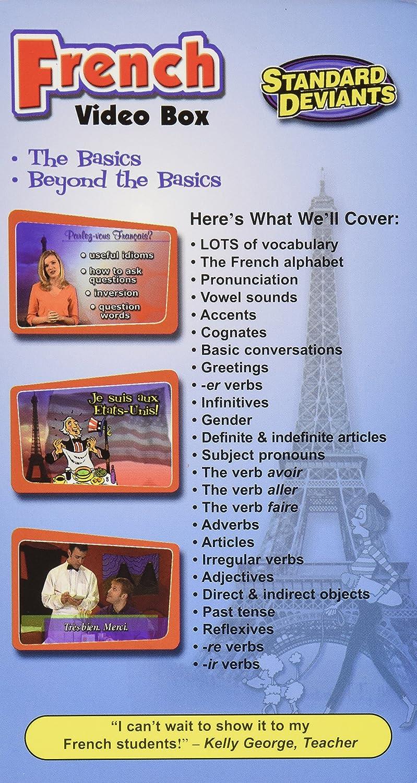 Amazon standard deviants learn to speak french french video amazon standard deviants learn to speak french french video box vhs standard deviants movies tv m4hsunfo