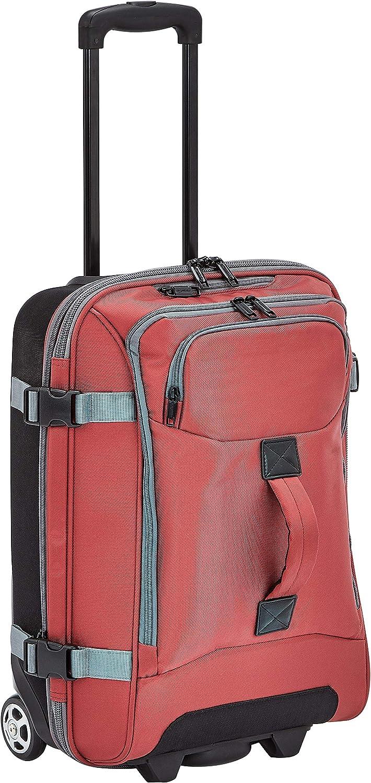 AmazonBasics - Bolsa de viaje con ruedas, pequeña, Rojo