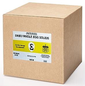Powdered Eggs Bulk Size - 50 lb - Whole Egg Powder, White & Yolk - Ideal Dried Food For Emergency / Survival Storage & Supply - Natural Protein For Baking - Keto Friendly - Non GMO, Gluten Free