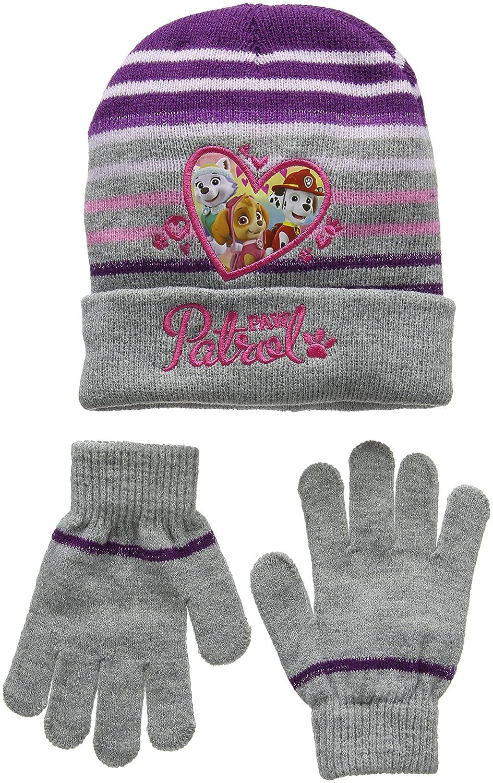 Guanti e Cappello Bambina Nickelodeon Paw Patrol Heart Shape Set Sciarpa